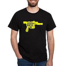 Han Shot First Gun T-Shirt