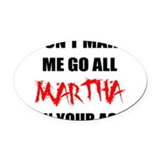 FIN-martha.png Oval Car Magnet