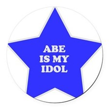 star-abe.png Round Car Magnet