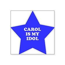 "star-carol.png Square Sticker 3"" x 3"""