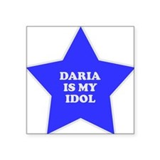 "star-daria.png Square Sticker 3"" x 3"""