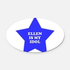 star-ellen.png Oval Car Magnet