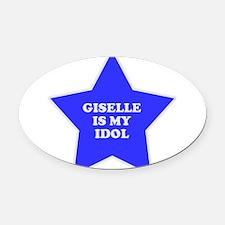 star-giselle.png Oval Car Magnet