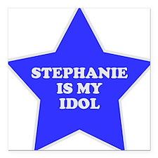 "3-star-stephanie.png Square Car Magnet 3"" x 3"""