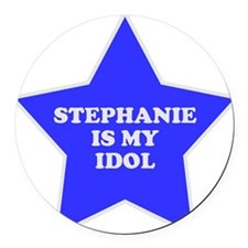 3-star-stephanie.png Round Car Magnet