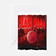 blood red moon Greeting Card