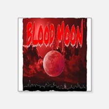"blood red moon Square Sticker 3"" x 3"""