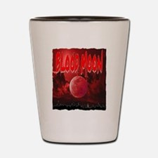 blood red moon Shot Glass