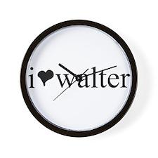 I <3 Walter Wall Clock