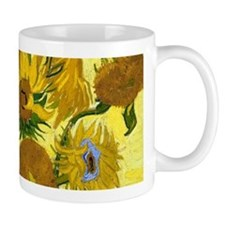 Van Gogh - 15 Sunflowers Small Mugs