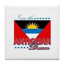 I am the Antiguan Dream Tile Coaster