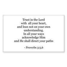 Proverbs 3:5,6 Rectangle Decal