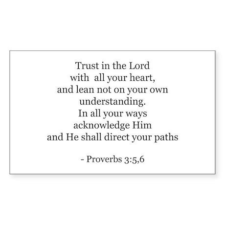 Proverbs 3:5,6 Rectangle Sticker