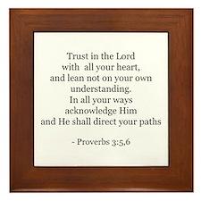 Proverbs 3:5,6 Framed Tile