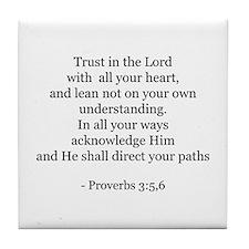 Proverbs 3:5,6 Tile Coaster