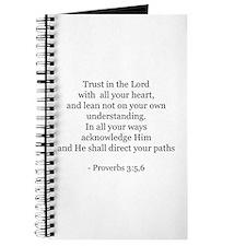 Proverbs 3:5,6 Journal