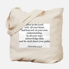 Proverbs 3:5,6 Tote Bag