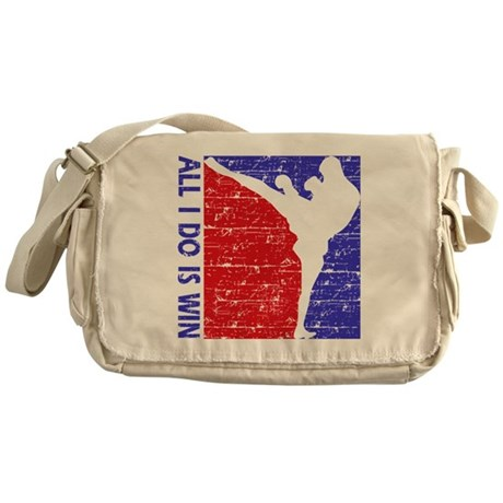 All I do is win Kick Boxing designs Messenger Bag