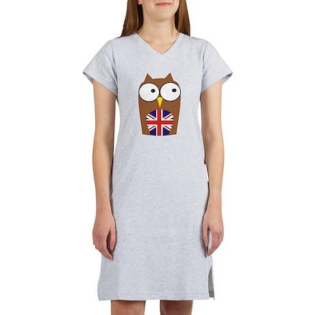 London Union Jack Owl Women's Nightshirt