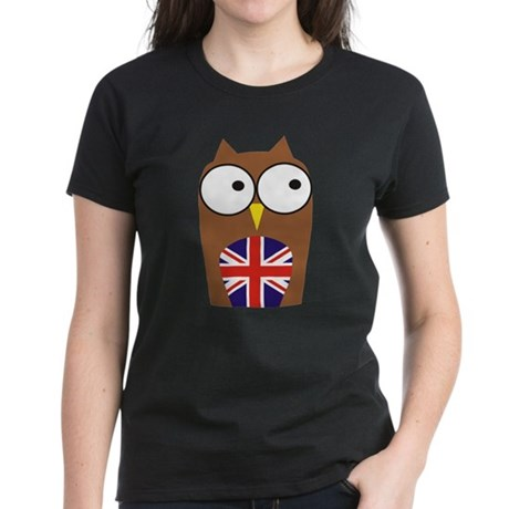 London Union Jack Owl Women's Dark T-Shirt