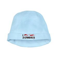 I Shotgun Zombies baby hat