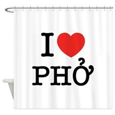 I Love (Heart) Pho Shower Curtain