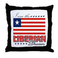 I am the Liberian Dream Throw Pillow