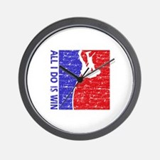 All I do is win Pole Vault designs Wall Clock