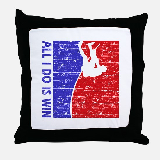 All I do is win Pole Vault designs Throw Pillow