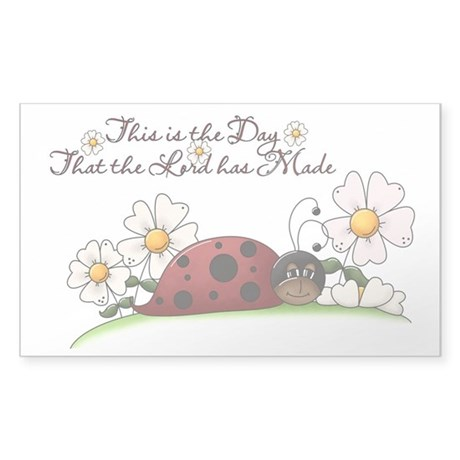 Ladybug Sticker (Rectangle 50 pk)