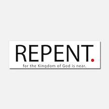 Repent Car Magnet 10 x 3