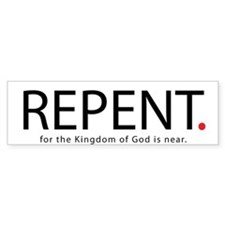 Repent Car Car Sticker