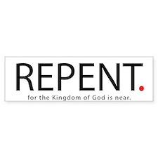 Repent Car Sticker