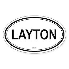 Layton (Utah) Oval Decal