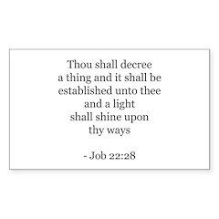 Job 22:28 Rectangle Decal