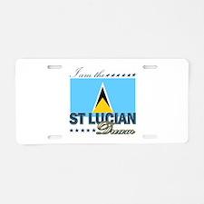 I am the St. Lucian Dream Aluminum License Plate