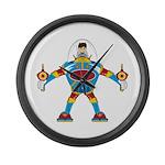 Spaceman in Mecha Robot Large Wall Clock