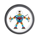 Spaceman in Mecha Robot Wall Clock