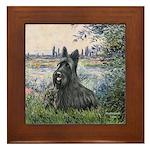 Seine - Scottish Terrier Framed Tile