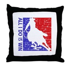 All I do is win Speed Skate designs Throw Pillow