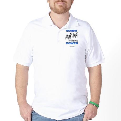 Horse Power - Blue Golf Shirt