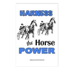 Horse Power - Blue Postcards (Package of 8)