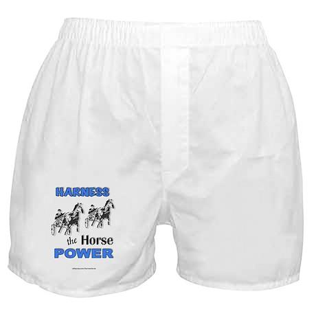 Horse Power - Blue Boxer Shorts