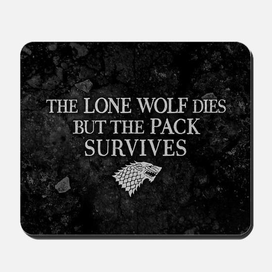 GOT Lone Wolf Dies Mousepad
