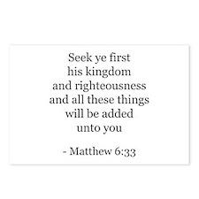 Matthew 6:33 Postcards (Package of 8)