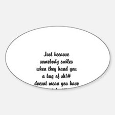 smiles Sticker (Oval)