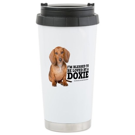 Loved by a Doxie Stainless Steel Travel Mug