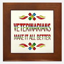 Veterinarians Framed Tile