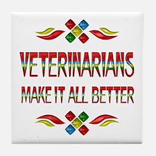 Veterinarians Tile Coaster