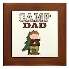 Camp Dad Award Plaque or Trivet (Boy/Squirrel)